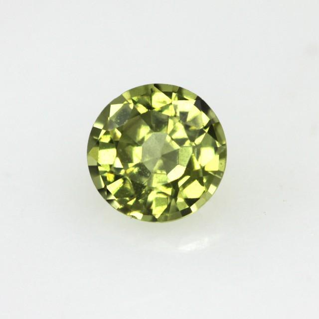 0,51cts Natural Australian Yellow Parti Sapphire Round Shape