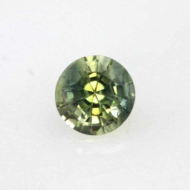 0.48cts Natural Australian Yellow Parti Sapphire Round Shape