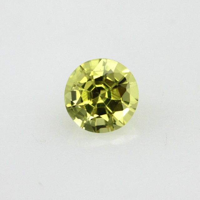 0.77cts Natural Australian Yellow Sapphire Round Shape