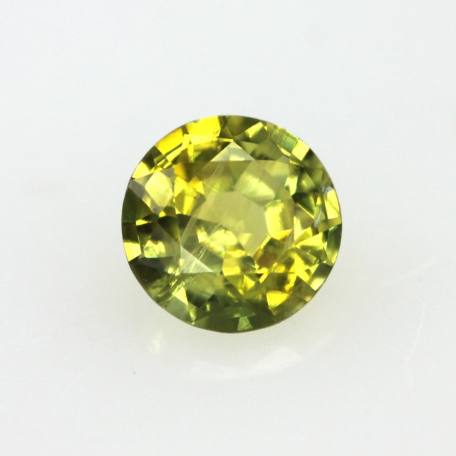 0.49cts Natural Australian Yellow/Green Sapphire Round Shape