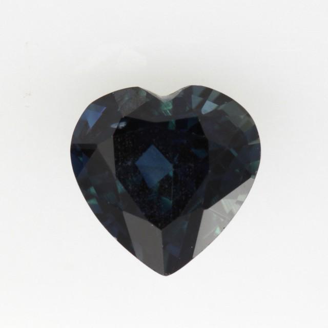 1.17cts Natural Australian Blue Sapphire Heart Shape