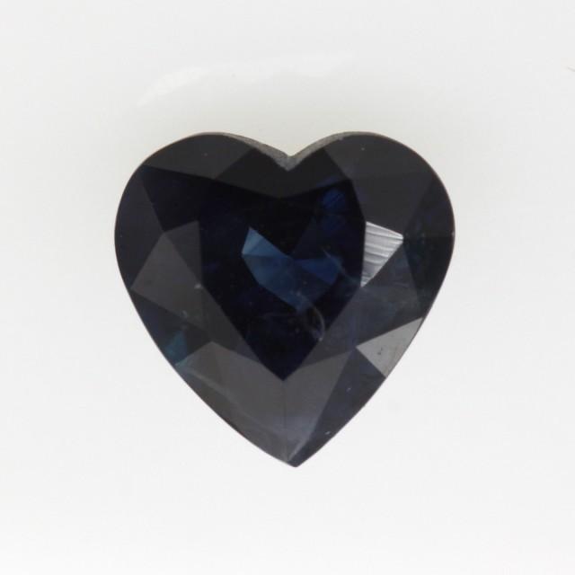 1.19cts Natural Australian Blue Sapphire Heart Shape