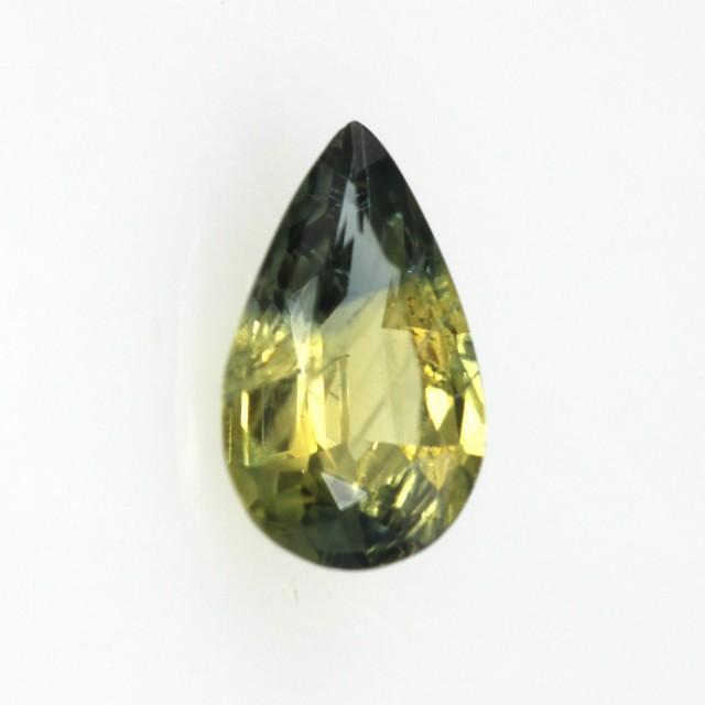0.61cts Natural Australian Yellow Parti Sapphire Pear Shape