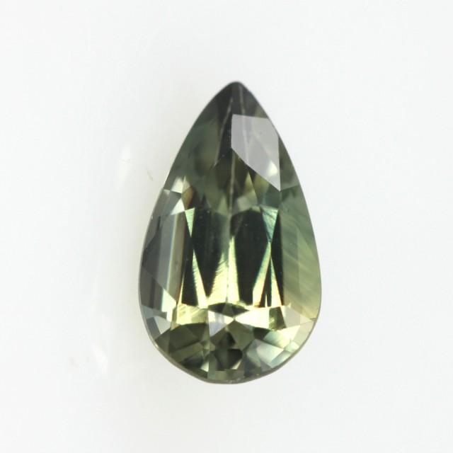 0.94cts Natural Australian Yellow Parti Sapphire Pear Shape
