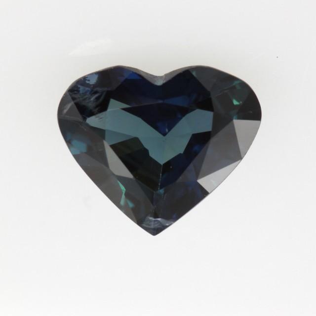 1.20cts Natural Australian Blue Sapphire Heart Shape