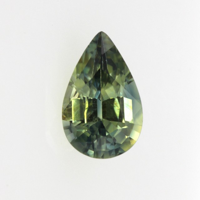 0.76cts Natural Australian Yellow Parti Sapphire Pear Shape