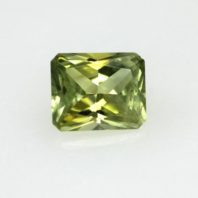 0.65cts Natural Australian Yellow Parti Sapphire Radiant Cut
