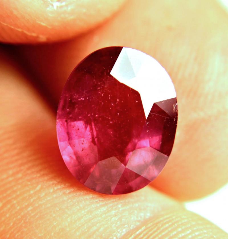 7.29 Carat Fiery Red Ruby