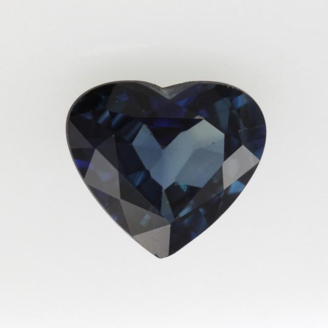 1.12cts Natural Australian Blue Sapphire Heart Shape