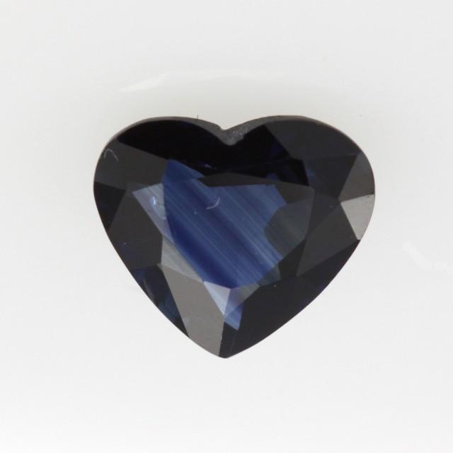 1.15cts Natural Australian Blue Sapphire Heart Shape