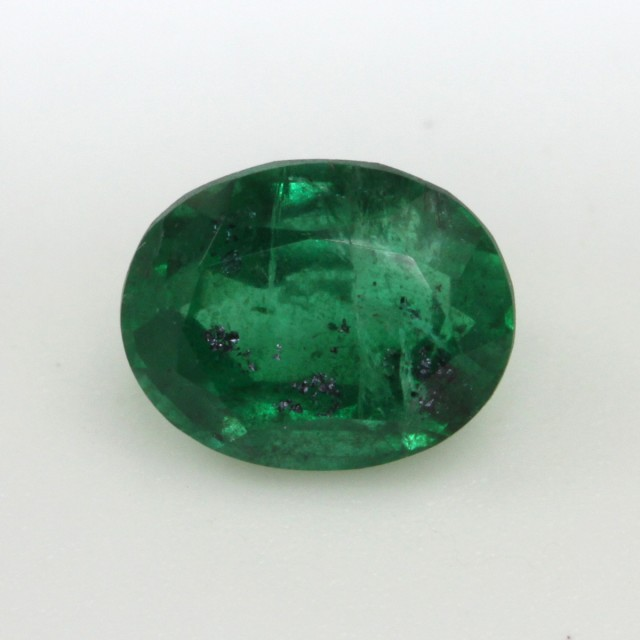 0.72cts Natural Emerald  Oval Mixed Step Cut