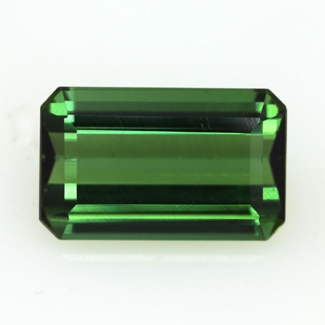 4.55cts Natural Green Tourmaline Emerald Step Cut