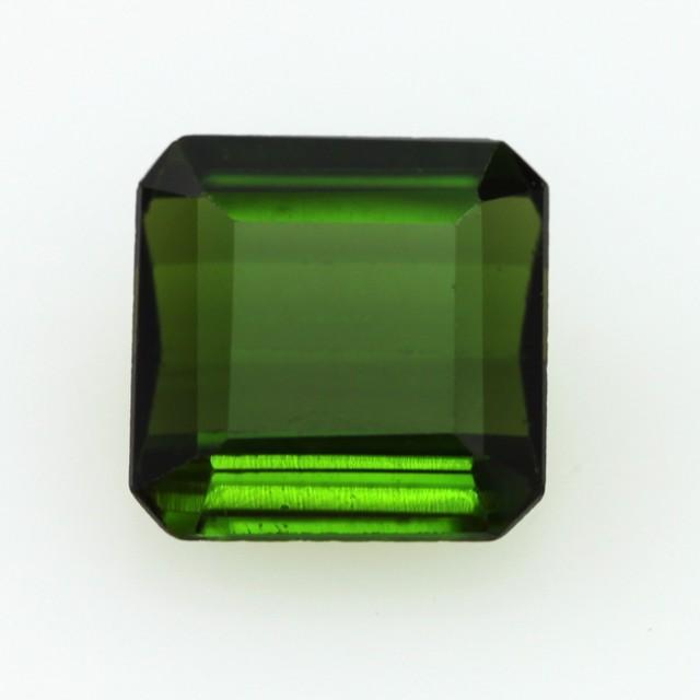 2.56cts Natural Green Tourmaline Emerald Step Cut