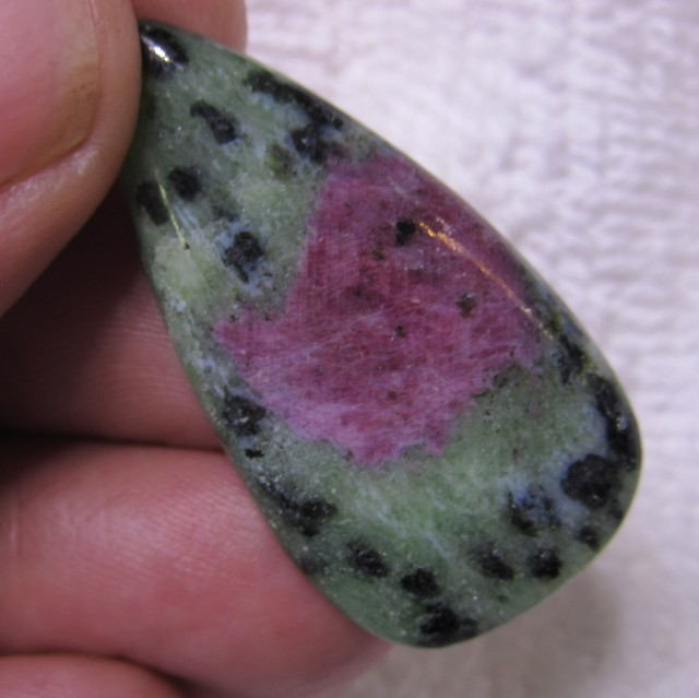 37 Cts Cabochon African Ruby zoisite Gemstone   BU878