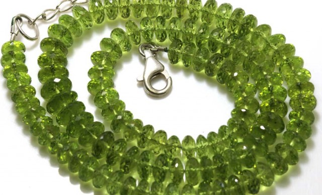 178.10 CTS PERIDOT FACETED BEAD NECKLACE ANGC-149