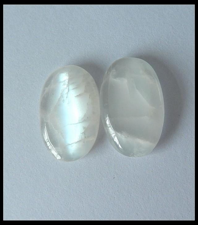 24.5 ct Pair Cabochon Natural Moon Stone