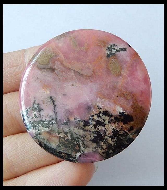 71 ct Gorgeous Rhodonite Gemstone Round Cabochon