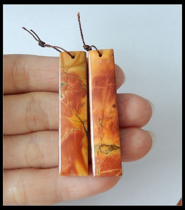 42 Ct Multi Color Picasso Jasper Earring Beads