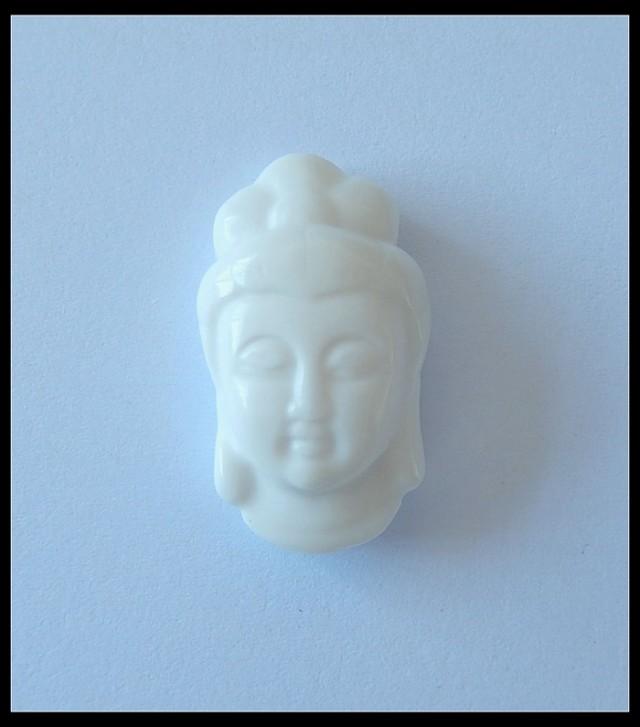40.1 ct White Agate Buddha Pendant Bead,Holiday Pendants