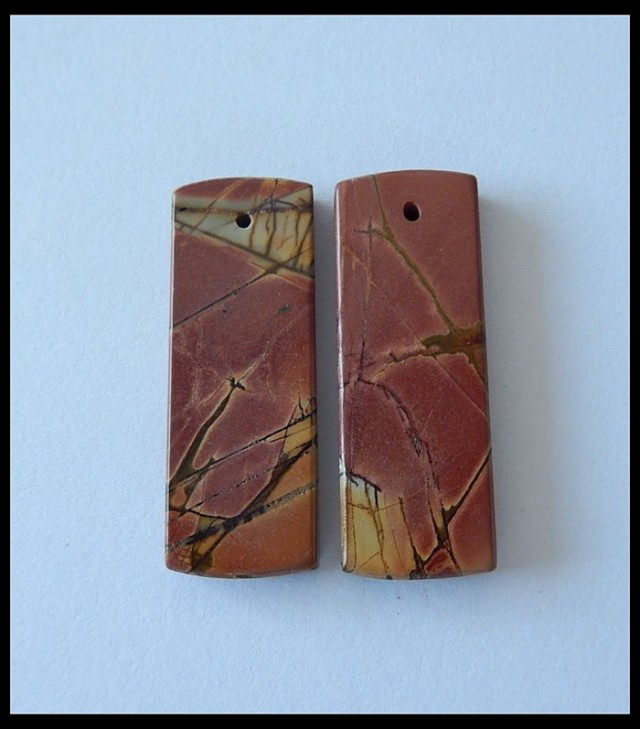 35.7 ct Natural Multi Color Picasso Jasper Earring Beads