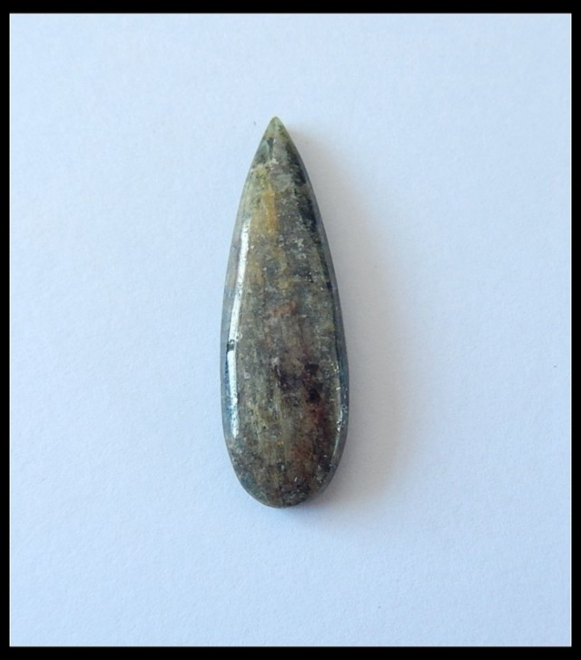18.5Cts Natural Green Kyanite Cabochon,Teardrop Rock