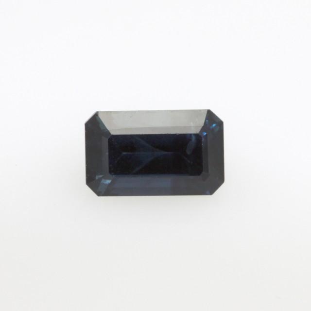1.46cts Natural Australian Blue Sapphire Emerald Cut