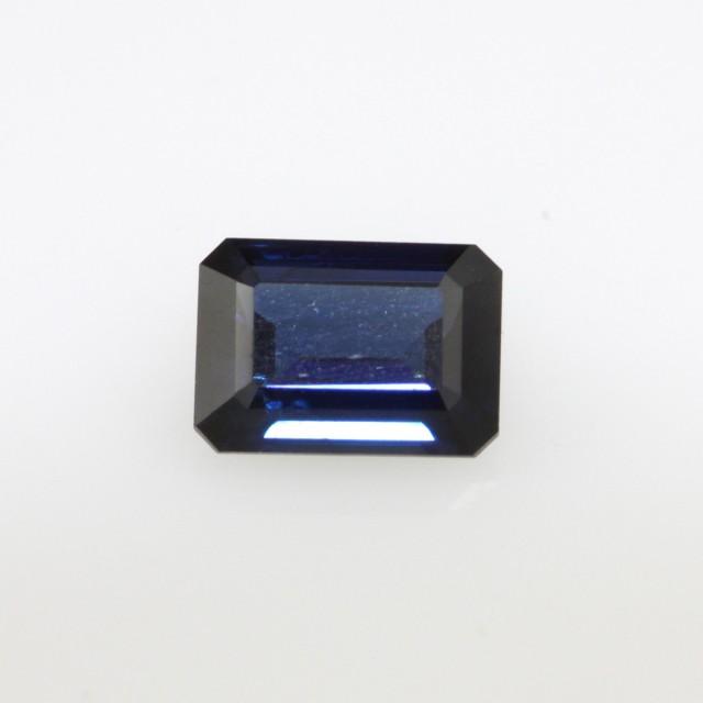 1.38cts Natural Australian Blue Sapphire Emerald Cut