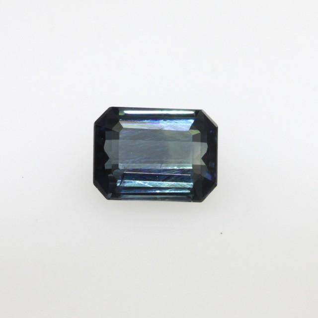 1.20cts Natural Australian Blue/Green Parti Sapphire Emerald Cut