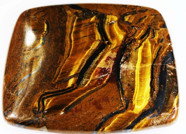 86.6 CTS TIGER EYE   WITH HEMATITE -AUSTRALIA [STS172 ]
