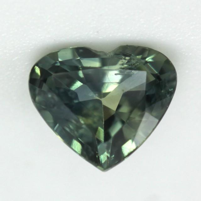 0.53cts Natural Australian Yellow/Green Parti Sapphire Heart Shape