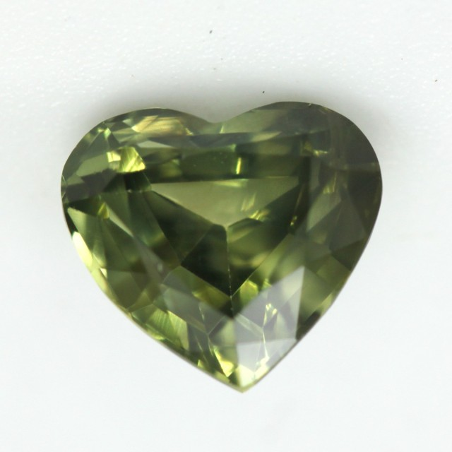 1.16cts Natural Australian Yellow/Blue Parti Sapphire Heart Shape