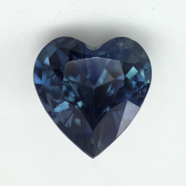 0.90cts Natural Australian Blue Sapphire Heart Shape