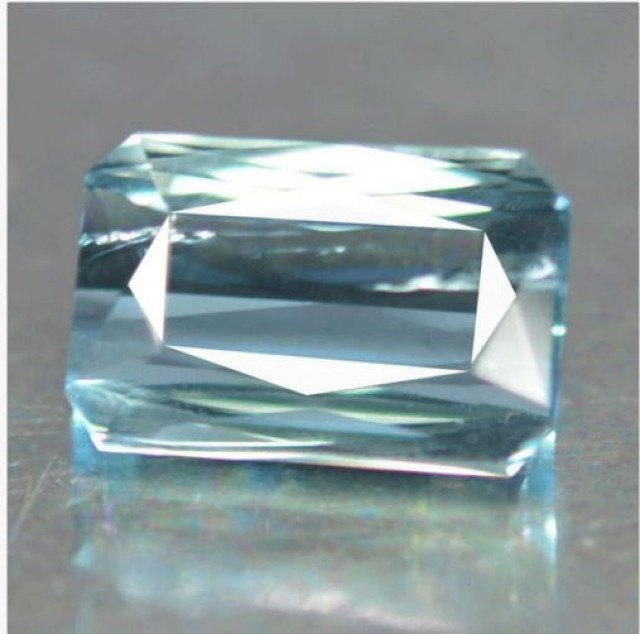9.10 Cts Natural Blue Tourmaline Octagon Cut Mozambique Gem