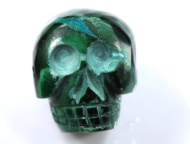 CHRYSOCOLLA SKULL CARVING 40 CTS LT-281