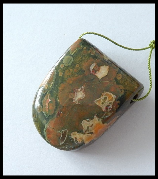 118.95 Ct Natural Rhyolite Gemstone Pendant Beads