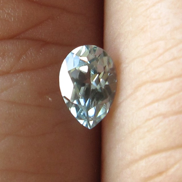 0.49cts Rare Natural Australian Blue Zircon Pear Shape