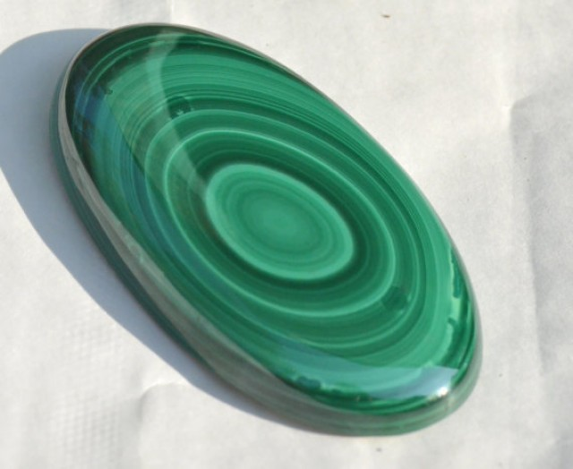 Malachite oval green large 67mm AAA grade