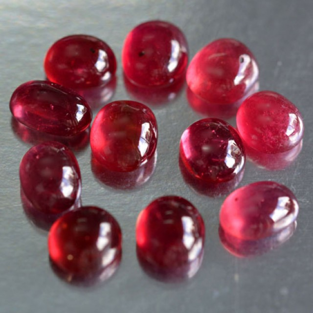 34.80 Cts Natural Corundum Ruby Cabochons 11 Pcs Parcel