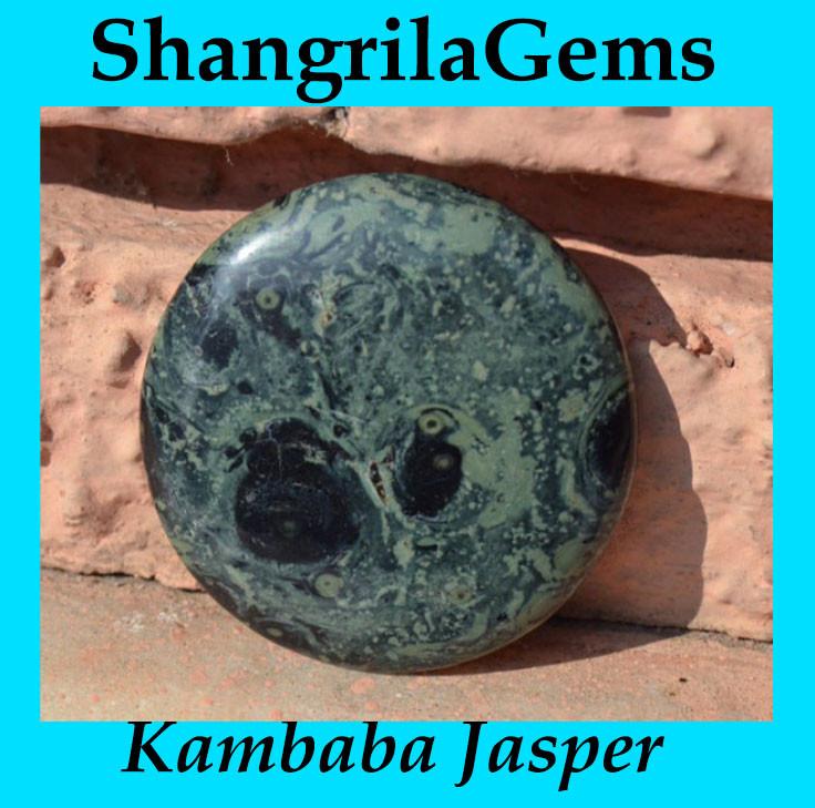 Kambaba Japser 58mm round 168ct