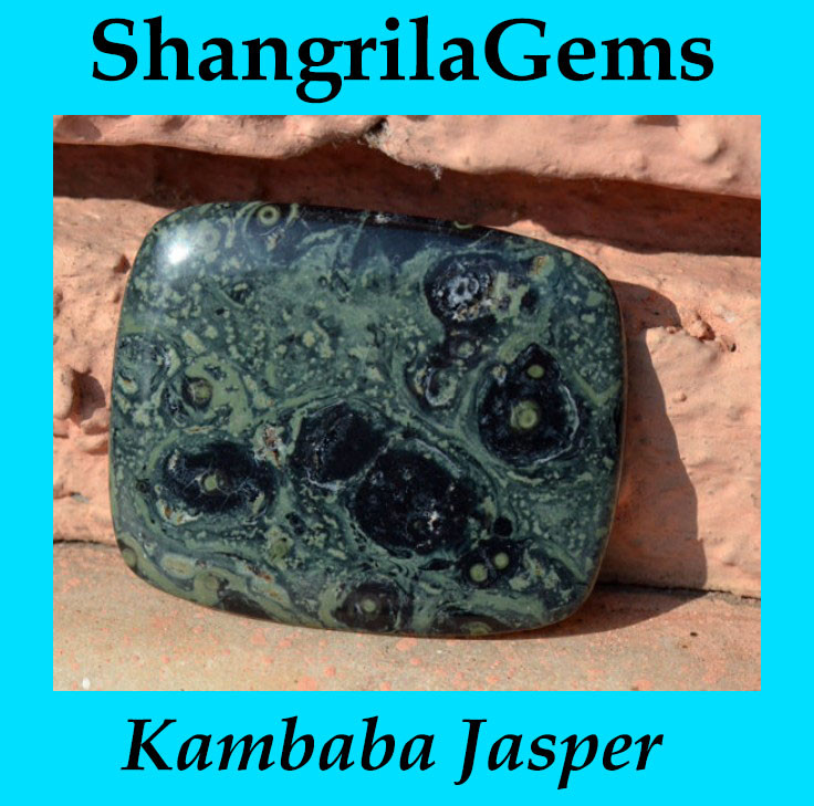 Kambaba Japser 60mm cushion oblong 186ct