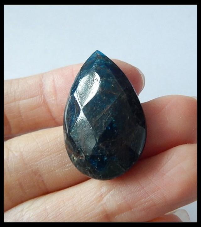 39 Ct Faceted Blue Apatite Gemstone Cabochon,Wholesale Gemstone