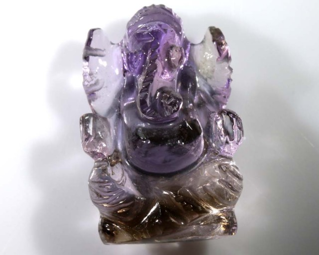 14.85CTS AMETRINE CARVING-INDIAN LORD GANESH LT-312