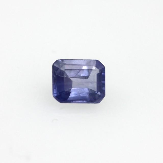 0.56cts Natural Sri Lankan Blue Sapphire Emerald Cut