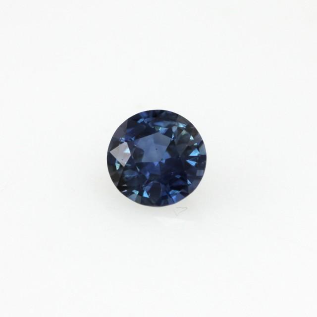 0.41cts Natural Australian Blue Sapphire Round Cut