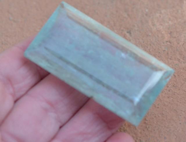 150.25ct 52mm Aquamarine gemstone oblong emerald rectangle blue