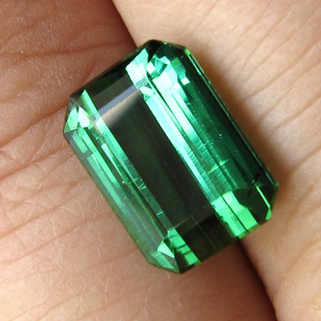 4.88cts Natural Green Tourmaline Emerald Step Cut