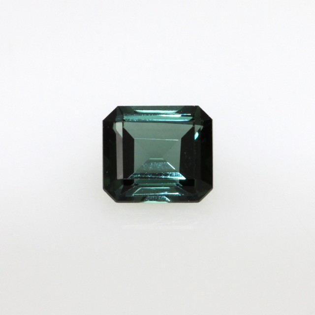 0.94cts Natural Green Tourmaline Emerald Step Cut