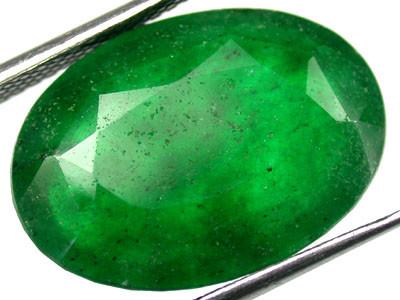 Quartz Emerald Green colour   10.40  carats   QU74