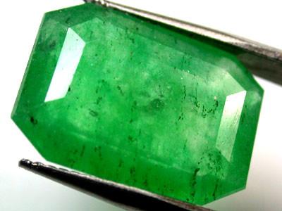 Quartz Emerald Green colour  7.40   carats   QU123