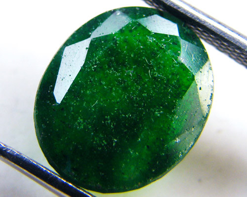 Quartz Emerald Green colour  4.05  carats   QU153